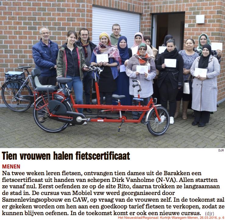Het Nieuwsblad/Regionaal: Kortrijk-Waregem-Menen, 26.03.2016, p. 6