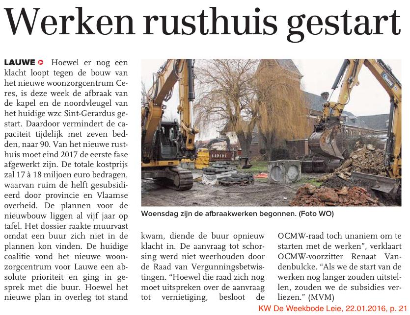 KW De Weekbode Leie, 22.01.2016